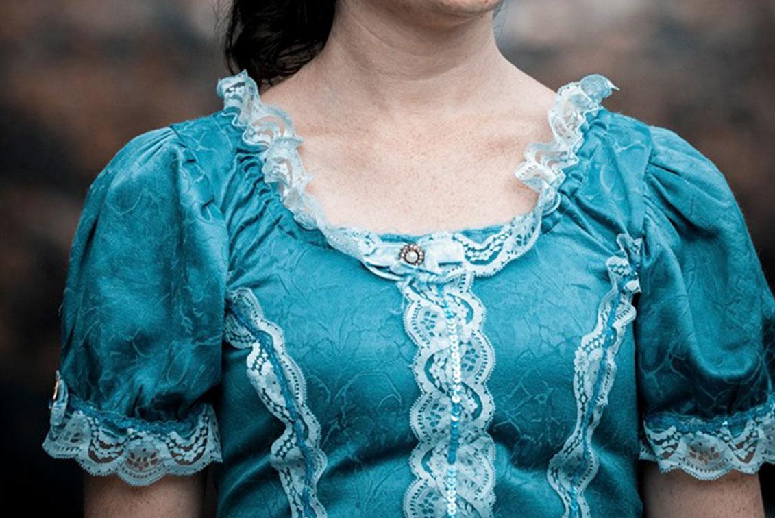 Sartoria Teatrale Bianchi - abito turchese 1800